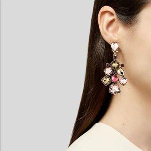 Pink Crystal piercing Earrings